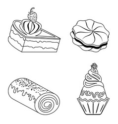 confection bakery products vector image