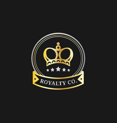 Crown logos set luxury corona monograms vector