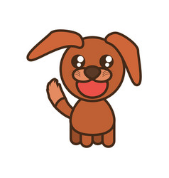 Cute doggy toy kawaii image vector