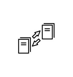 data synchronization icon vector image