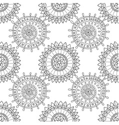 decorative black and white seamless pattern for vector image
