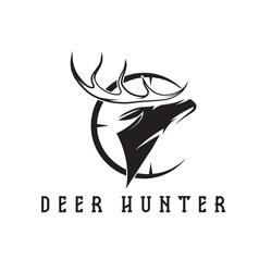 deer head with target design template vector image