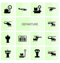 Departure icons vector