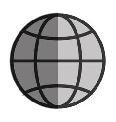 Earth globe diagram vector