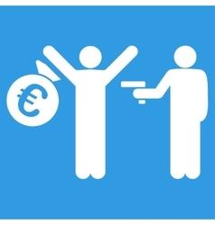 Euro robbery icon vector