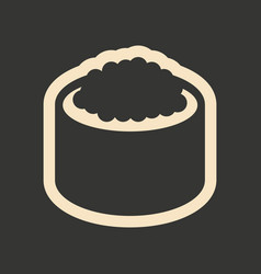 Flat in black and white mobile application sushi vector