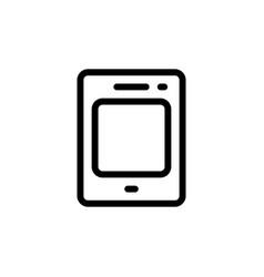 flat single line phone icon symbol sign logo vector image