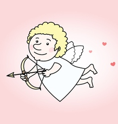 Flying cupid vector image
