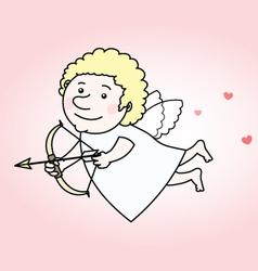 Flying cupid vector