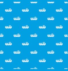 Freight train pattern seamless blue vector