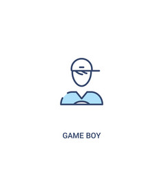 Game boy concept 2 colored icon simple line vector