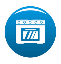 Gas oven icon blue vector