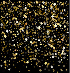 gold sparkles on a black background gold vector image
