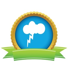 Gold storm logo vector image