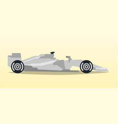 gray racing bolid sports car quick transport vector image
