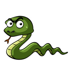 green snake with serious face vector image