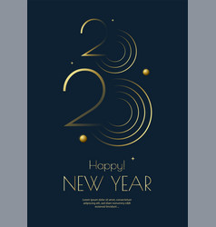 happy new year 2020 greeting card design template vector image