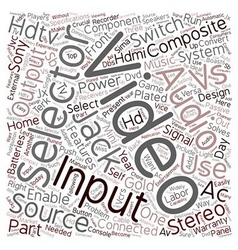 hdtv av selector 1 text background wordcloud vector image vector image