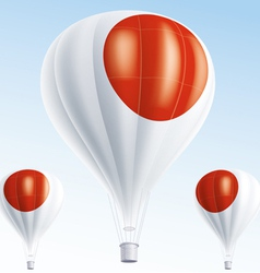 Hot balloons painted as Japanese flag vector