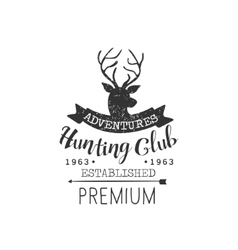 Hunting adventures vintage emblem vector