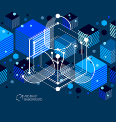 Industrial and engineering blue black background vector