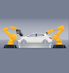 industry conveyor vehicle production vector image