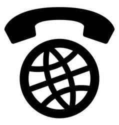 International calls worldwide icon vector