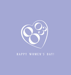 International women day greeting card vector