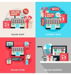 Internet Shopping Decorative Icon Set vector