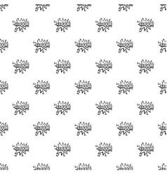 Kaboom explosion pattern vector