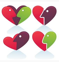 Love emblems vector