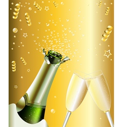 New Years Invitation vector image