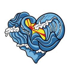 ocean love vector image
