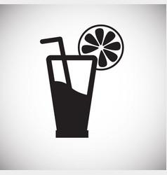 Orange juice on white backgorund vector