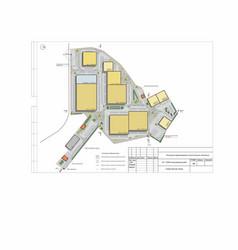 Project a logistic park complex plan vector
