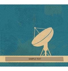 Radar translation Satellite dishes antena Retro vector