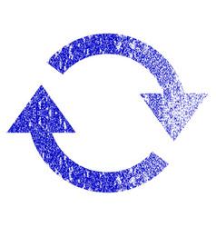 Refresh grunge textured icon vector