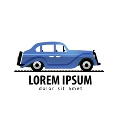 retro car logo design template transport vector image
