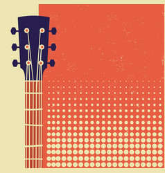 retro music poster background with acoustic vector image