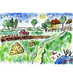 Rural Landscape04 vector