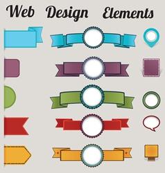Set of retro web design elements vector image