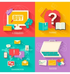 Set of social business life design backgr vector