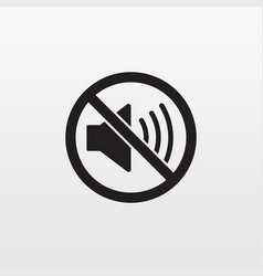silent mode icon isolated not sound quiet vector image