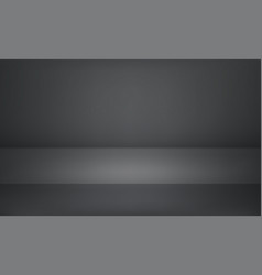 Studio gray black 3d product showroom background vector
