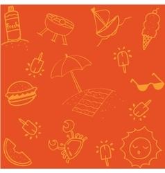 Summer of doodle art vector