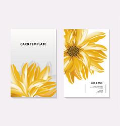 sunflower contrast card template summer 3d vector image