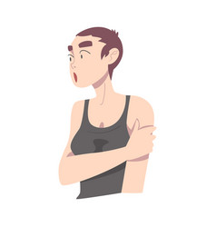 surprised girl with short haircut young woman vector image