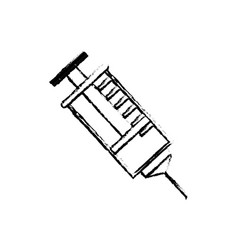 Syringe medical symbol vector