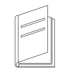 Textbook icon outline style vector