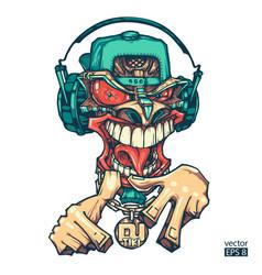 tiki dj rapper vector image